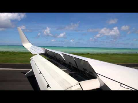 Landing at Faleolo International Airport (APW) on Air Pacific 737-800