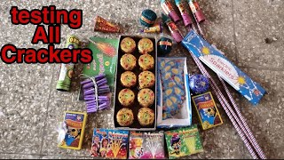 रात में जलाये सारे पटके | In the night brushing All Crackers | Unique & Different types of Cracker