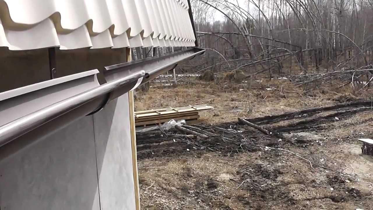 Этап 4-2. Покрытие крыши в доме из SIP панелей. - YouTube