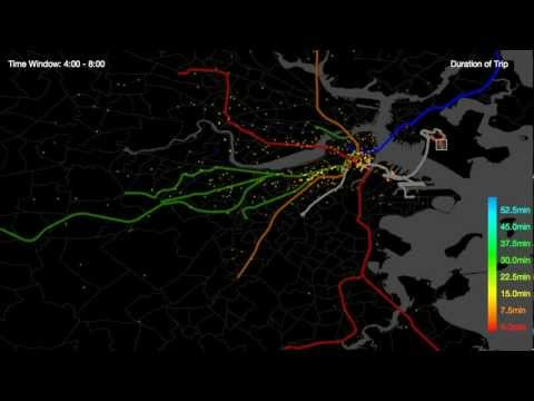 Boston Taxi Cabs: Interactive Visualization