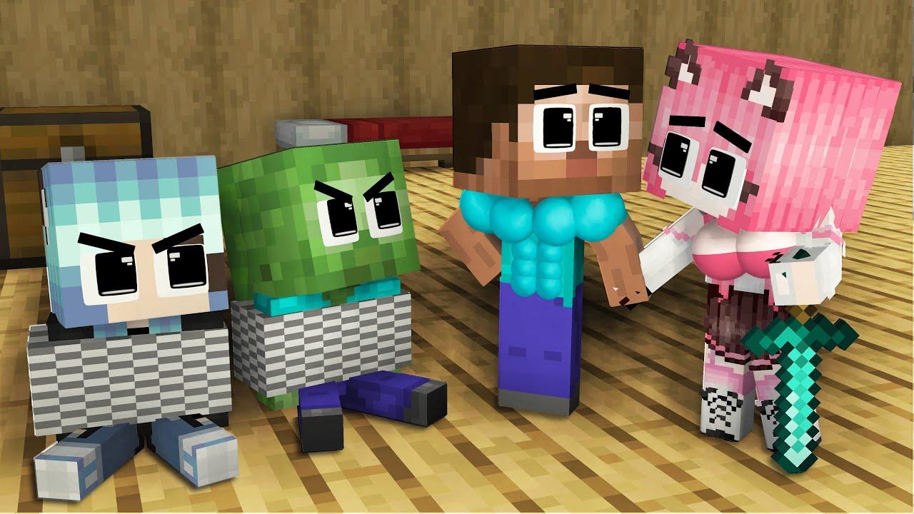 Monster School: RICH Family Zombie Season 1 Full Episode 1 hour - Sad Story - Minecraft Animation