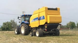 NEW HOLLAND BR 7070 CropCutter + New Holland TS 135