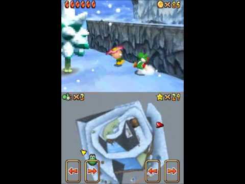 Let's Play Super Mario 64 DS Frosty Slide for 8 Red Coins and Cool, Cool Mountain 100 Coin Star