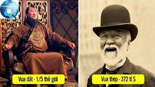 9 người giàu nhất mọi thời đại với tiềm lực kinh tế không tưởng