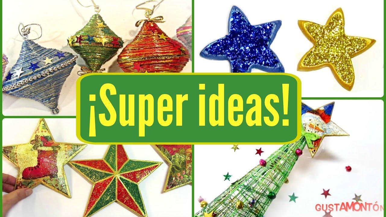 Diy 4 ideas de adornos f ciles para navidad youtube for Cosas para hacer de navidad faciles
