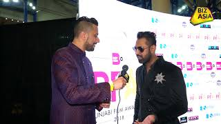 BizAsia meets actor Gippy Grewal at the Punjabi Film Awards 2018