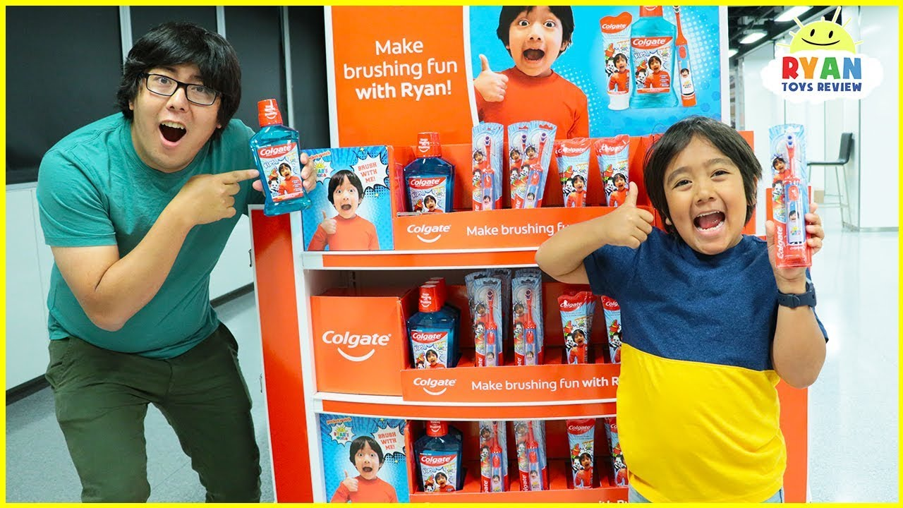 Ryan Build his own Toothbrush at the Colgate Factory! New Ryans World Dental Care Revealed!