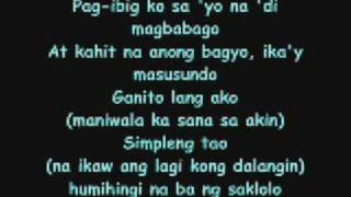 Repeat youtube video Simpleng Tao Gloc 9 Lyrics