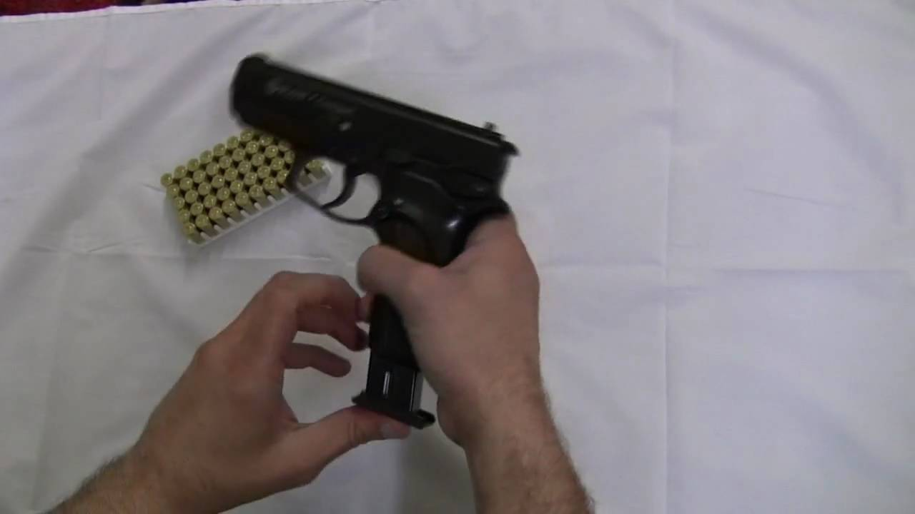 9 Mm Blank Firing Replica Guns Automatic Blank Firing Demonstration