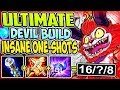 ULTIMATE DEVIL BUILD | INSANE ONE-SHOTS AND INSTANT KILLS | Teemo TOP S8 Gameplay League of Legends