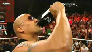 The Rock return to wwe in raw 14 2 2011 part 2