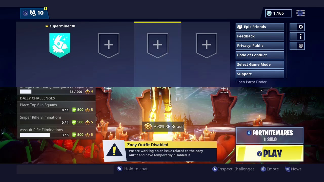 Accept Friend Request on Fortnite PS4