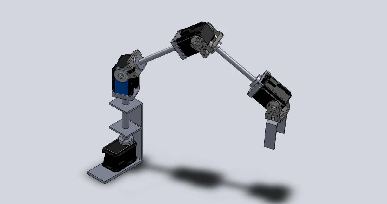 Simple design of a 5dof robotic arm with robotis motors Motor for robotic arm