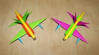 Video How to make a paper Airplanes that shoots Paper bullets | Paper Planes | Russian Fighter jet download MP3, 3GP, MP4, WEBM, AVI, FLV Agustus 2017