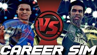 SIMULATING RUSSELL WESTBROOK VS. OSCAR ROBERTSON'S CAREER SIM VERSUS ON NBA 2K18!!!