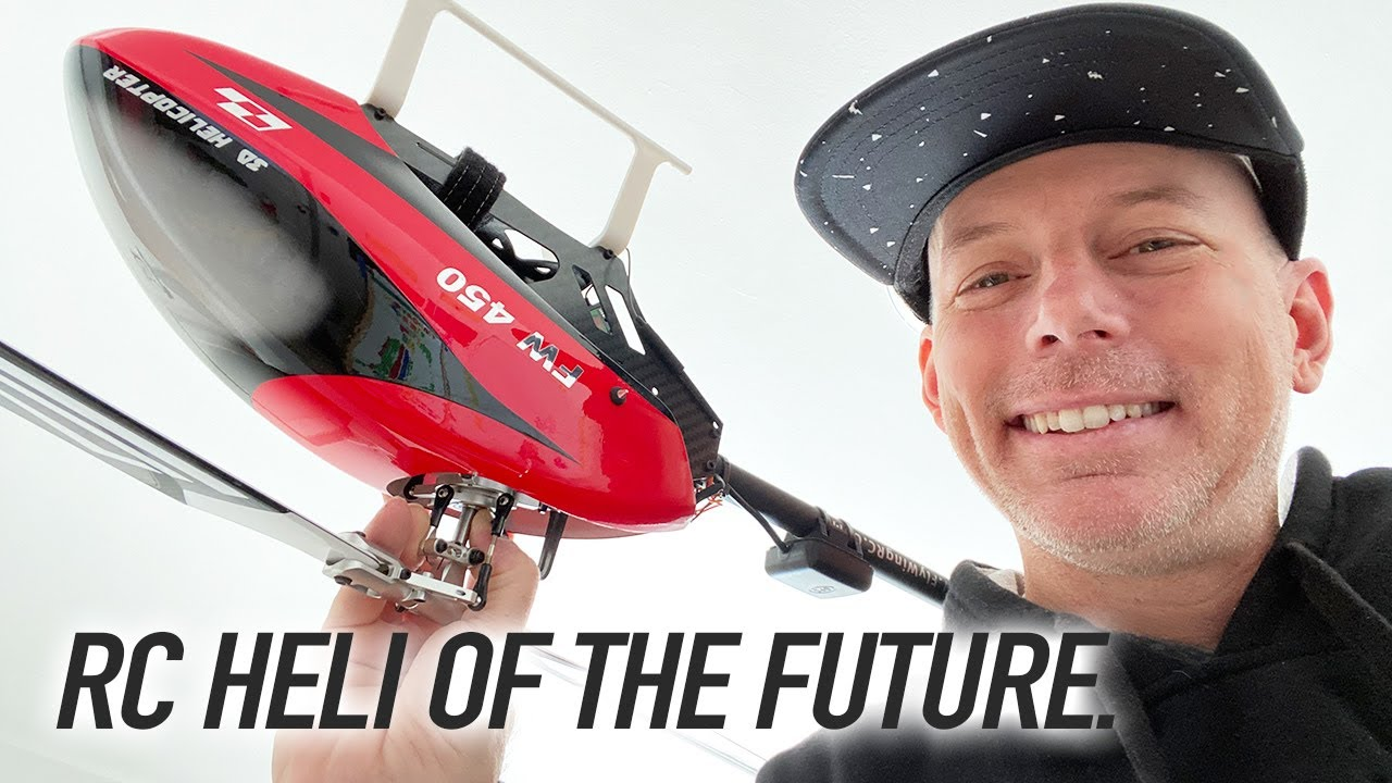 RC HELICOPTER OF THE FUTURE - Flywing FW450 🚁🛰🛸