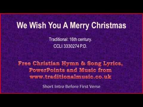 We Wish You A Merry Christmas - Christmas Carols Lyrics & Music(v2)