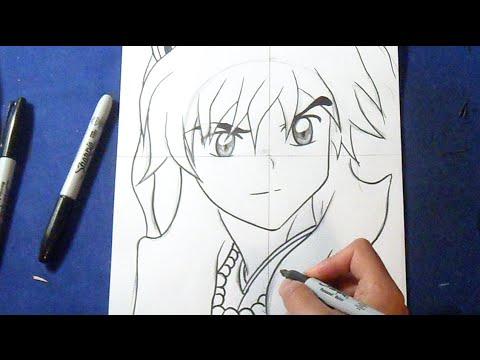 Cómo dibujar a Inuyasha   How to draw Inuyasha - YouTube