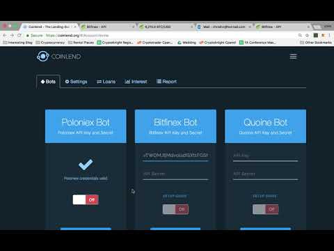 Linking Coinlend To Bitfinex