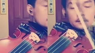 "Belajar lagu ""Take Me to Your Heart"" Violin CoverKu"