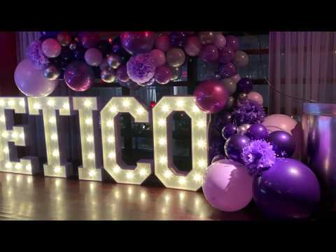 organic balloon display for a company party
