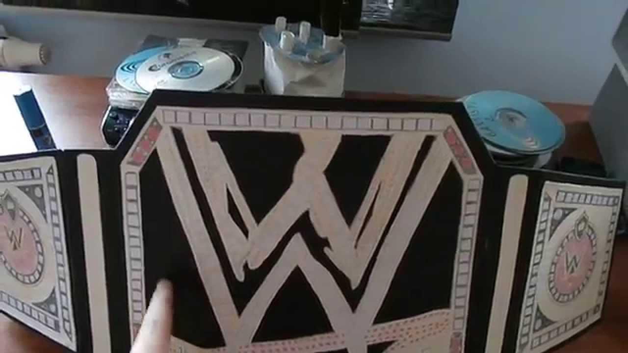 Comment Fabriquer Une Télé En Carton homemade wwe championship belt + tutorial