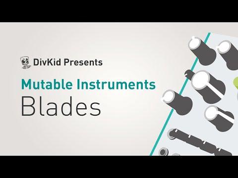 Mutable Instruments BLADES // Eurorack dual/stereo multimode filter, folder & saturator