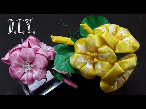 ❀ ♡ ❀ D.I.Y. Kanzashi Morning Glory Flower | MyInDulzens ❀ ♡ ❀