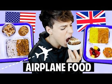 AMERICAN vs. BRITISH Airplane Food