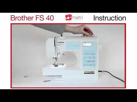 brother fs40 instruction naaimachine sewingmachine machine a coudre nahmaschinen youtube. Black Bedroom Furniture Sets. Home Design Ideas