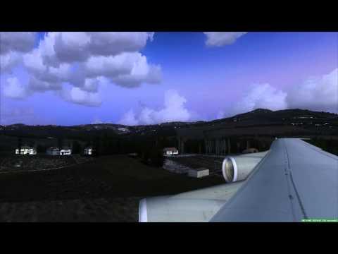 Landing at Vagar [EKVG] Faroe Islands Boeing 747-230 (FSX HD)