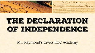 The Declaration of Independence: Document Ananlysis -Civics EOC