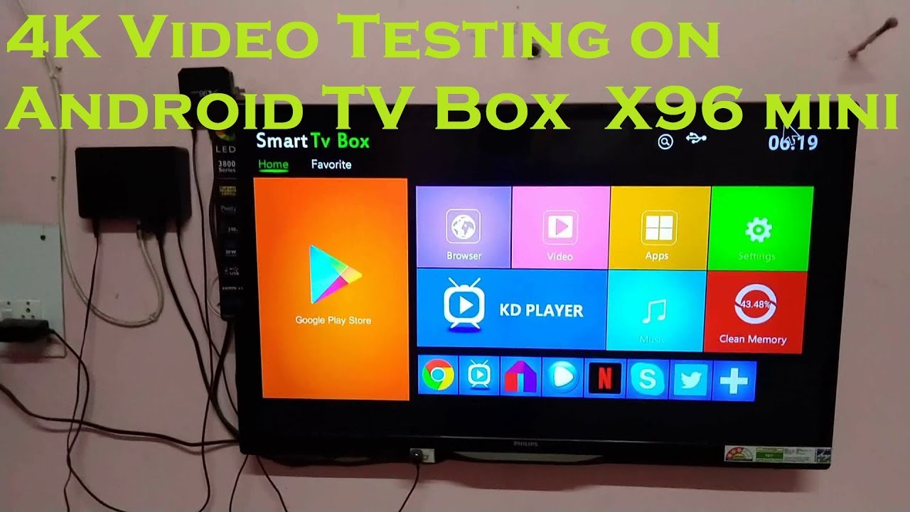 Testing 4K Video in X96 mini Android TV Box || HINDI ||
