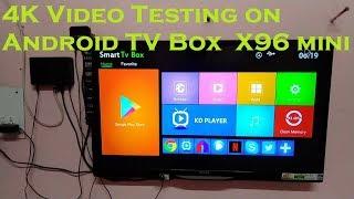 Testing 4K Video in X96 mini Android TV Box || HINDI |
