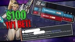 $100 WIDOWMAKER 1V1 BET ON STREAM!! -  Overwatch Stream Highlights #1
