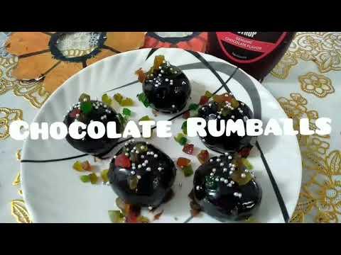 Chocolate Rumball Recipe | Easy Chocolate Rumball Recipe | Oreo Ball Recipe