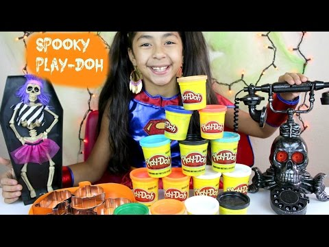 Spooky Tuesday Play Doh Giant Pumpkin Ghost Bat  Hallooween 2015 | B2cutecupcakes