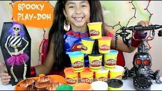 Spooky Tuesday Play Doh Giant Pumpkin Ghost Bat  Hallooween 2015 | B2cutecupcakes