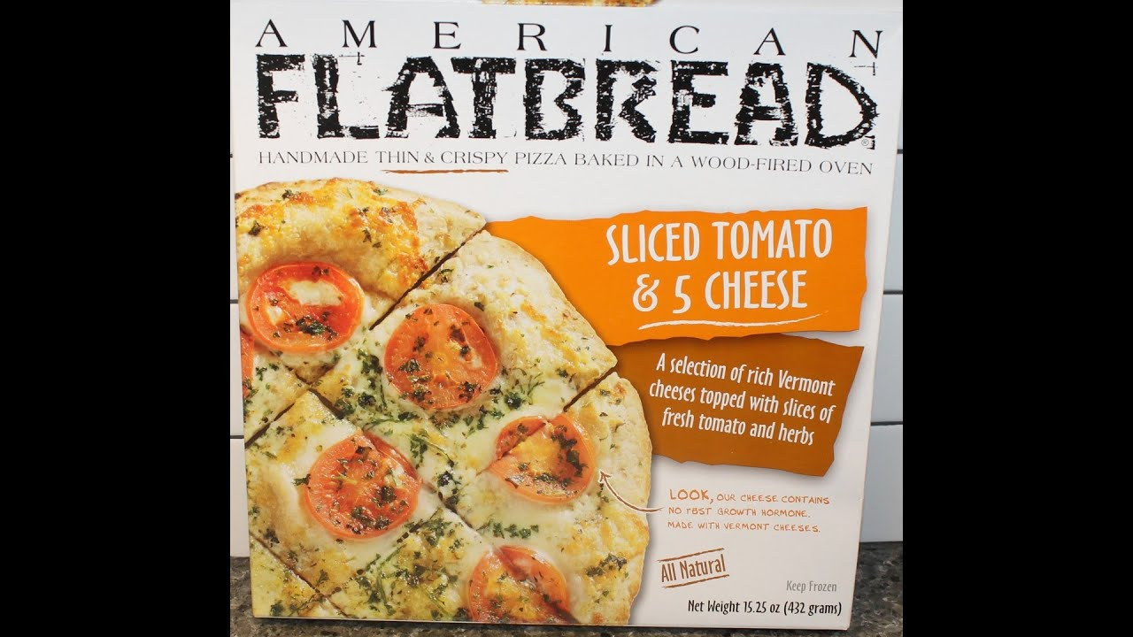 American Flatbread Pizza Sliced Tomato 5 Cheese Review