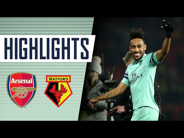 AUBAMEYANG WITH A BIZARRE GOAL! | Watford 0 - 1 Arsenal | Goals and highlights