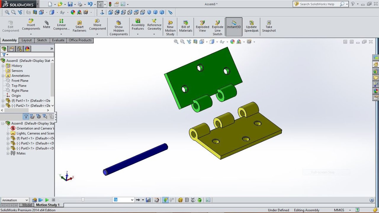 Hinge Animation In Solidworks
