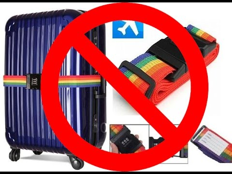 Luggage strap with lock is USELESS! - YouTube