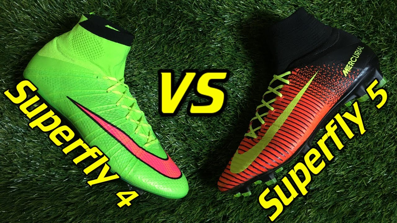 timeless design cee47 0eac8 Nike Mercurial Superfly 4 vs Superfly 5 - Comparison + Review