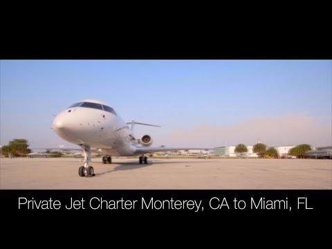 Private Jet Charter Monterey, CA to Miami, FL