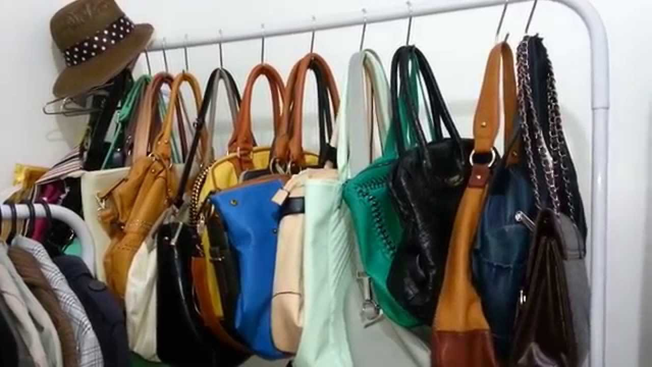 Dica no closet para organizar suas bolsas youtube - Organizar bolsos ikea ...