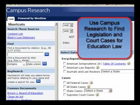Tour Major Library Resources for Education Research