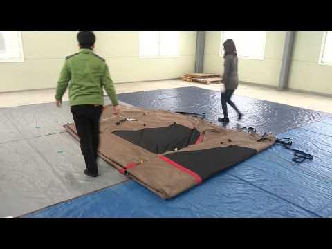 [텐트깔끄미] 거실형 텐트 2명이 접는 방법 - �