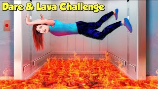 Extreme Floor is Lava Challenge with Family🔥 Fun *Dare* Challenge