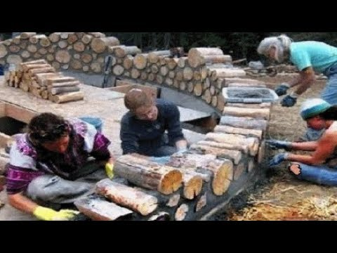 видео: Дом  из дров ,дешево,тепло+эко.#house of #wood