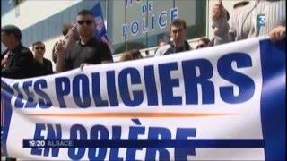Rassemblement contre la haine anti-flic en Alsace
